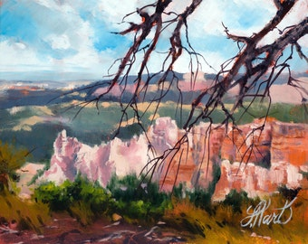 Bryce Canyon Oil Painting, Bryce Canyon Utah, Utah Oil Painting, Red Rock Painting,