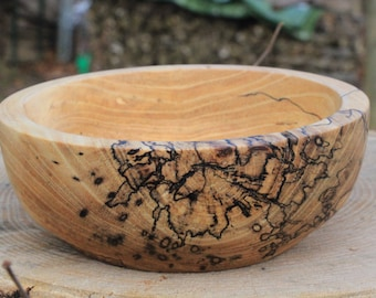 Wooden Bowl - Spalted Elm Wood - Home Decor