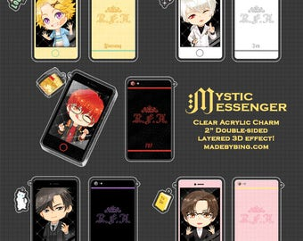 Mystic Messenger Phone Acrylic Charms