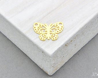 925 Sterling Silver little butterfly Charm gold plated, butterfly Pendant, Silver butterfly, Little butterfly, Tiny butterfly, Craft Tools