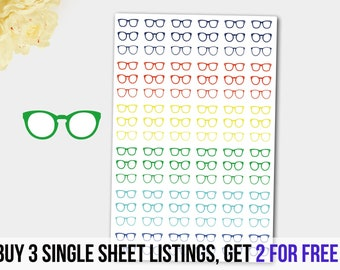 Eyeglass  Stickers in Band of Colors!