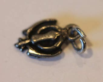 Vintage sterling silver signed WAO religious charm