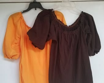 Renaissance Lady's Blouses/Chemises - Crinkle Cotton