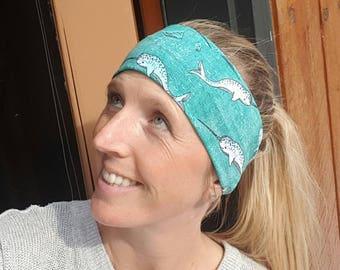Stretchy Narwhal Headband