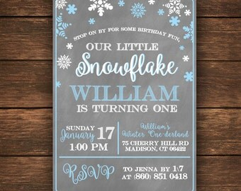 Our Little Snowflake is turning One | Our Little Snowflake invitation | Winter Onederland  Invitation | Little Snowflake Invitation