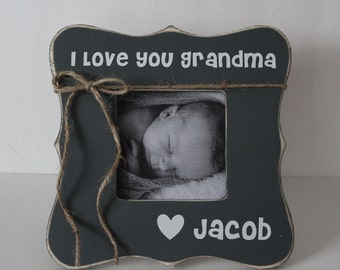 i love you grandma picture frame grandma gift rustic picture frame mothers day gift