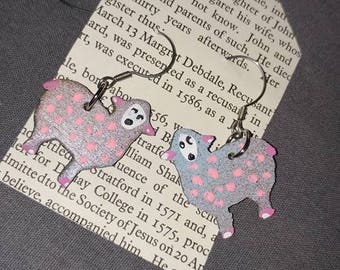 Polka Dot Sheep Earrings
