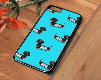 Dachshund Sausage Dog Blue Beautiful Hard Phone Case Iphone 4 4S 5 5S SE 5C 6 6S 7 Plus