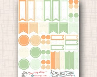 2017 InkWELL Press Planner Stickers   Sensible Shapes Sampler   54 Stickers Total   #SS33IWP4