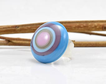 Rings / / MURANOS / / silver / / turquoise / / 20 ml diameter of stone / / handcrafted