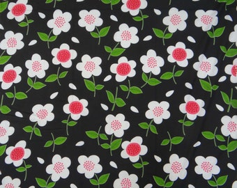 "Indian Decorative Cotton Fabric For Sewing Designer Decorative Black 41"" Wide Cotton Floral Printed Non-Transparent Fabric By 1 Yard ZBC6153"