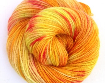 "Hand dyed Nordic yarn: ""Aprilsnarr"" in Hillesvåg Ask, 100% Norwegian wool"