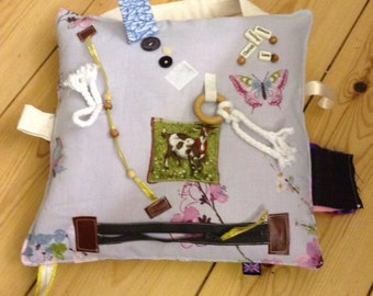 Touch and Feel-Me cushion. Dementia/Alzheimer's sufferers .