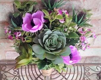 Violet Succulent Bouquet