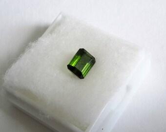 1.25 cts, green tourmaline, 6mm x 4 mm x 3 mm, genuine loose gemstone, tourmaline gemstone, gem, loose gem
