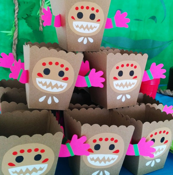 Moana Kakamoras Snack box Moana Birthday Party Decoration