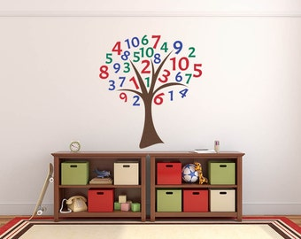Classroom Wall Decal, Playroom Wall Decal, Educational Wall Decal, Play Room Decor, Classroom Wall Sticker, Number Wall Decal