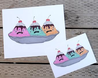 eyescream sundae art print