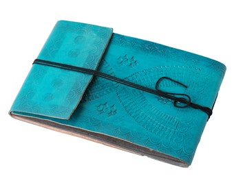Turquoise Embossed Photo Album - Landscape