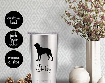 Rottweiler Decal with customizeable name text