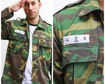 Vintage Authentic Korean Military Shirt