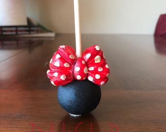 1 Dz- Minnie Mouse inspired cake pops- disney party- Minnie Mouse theme