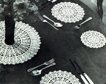 Vintage 1950s Twilleys B3 Lyscordet Lace Home Decor Filet Crochet Pattern Booklet Rare Doily