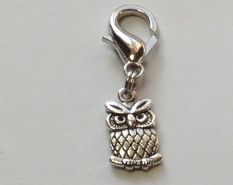Owl Zipper Pull, Owl lovers gift, Bag Charm, Purse Charm, Backpack Charm,Planner Charm