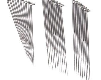 10 Wool Felting Needles in 3 Various size. Felt Tools, Needle Starter Craft, DIY