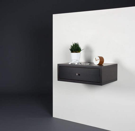 end table side table with drawer modern bedside wood side table floating black corian bedside stone gray console midcentury