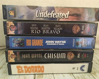 John Wayne Movies, Classic Westerns, VHS John Wayne Movies, Classic John Wayne Movies, Old Movies, Vintage Movies