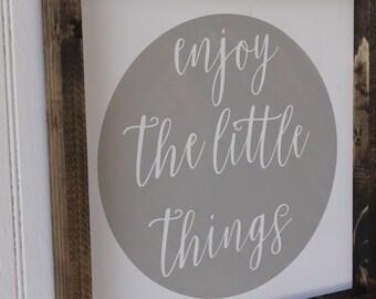 enjoy the little things sign enjoy the little things nursery decor nursery framed wood sign wood sign home decor wall decor wall art sign