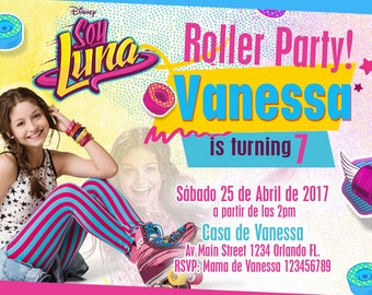 Soy Luna Celebration Invitation Birthday Party - Personalized We deliver your order in record time!, less than 4 hour! BEST VALUE