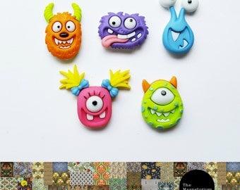 Monster Fridge Magnet Set