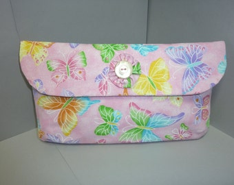 Pink Butterfly Clutch