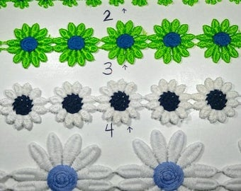 Venice Lace Daisy Trim - Available in Many Sizes and Colors