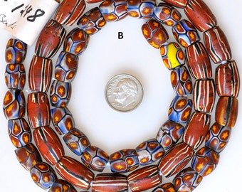 Mixed Strands of Antique Venetian Trade Beads - Vintage African Trade Beads - 24-28 Inch Strand