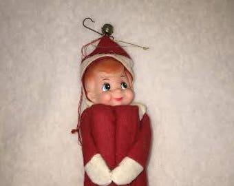 Vintage Christmas Pixie Ornament