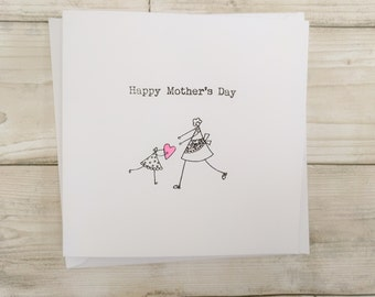 Cute simple handmade Mother's Day card