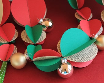 Vintage Christmas Garland 3m or 6m