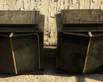 Art Deco Pointed Front Night Stands