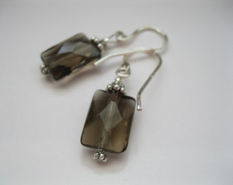 Gorgeous Faceted Smoky Quartz Earrings