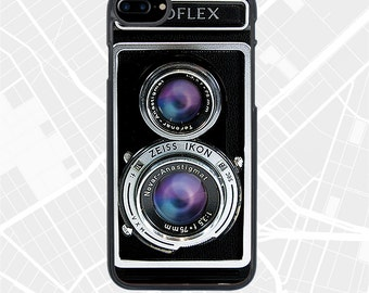 iPhone 7 Plus Vintage Camera Cases Twin Lens Ikoflex iPhone 7 Covers, iPhone 6 Case, retro camera iPhone 6 + 6s Covers gift for photographer