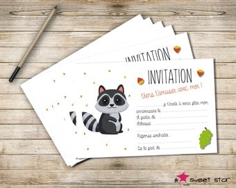 Set of 8 cards of Invitation birthday child