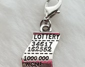 Lottery Ticket Charm - Clip-On - Ready to Wear