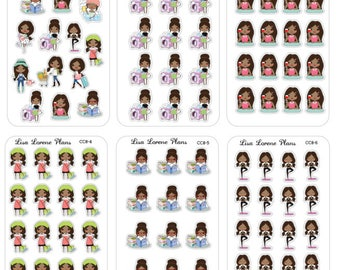 LIV Mini Planner Stickers | AFRICAN AMERICAN | perfect for most planners | cc8.1-11