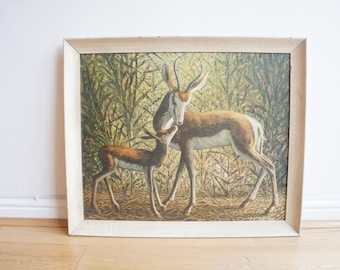 Mid  century vintage Tretchikoff 'Mother and child' 60's 70's original print