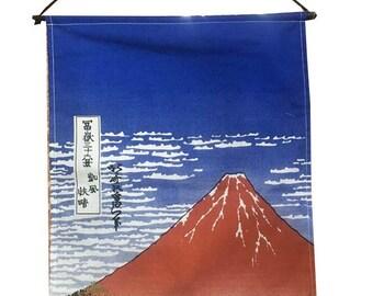 Japanese Mount Fuji Curtain Tapestry,Flag Wall Hanging Print Fabric
