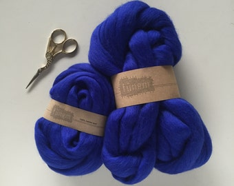 Merino Wool Roving 703 Electric Blue