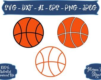 Basketball SVG - Sports Balls SVG - Basketball Outline SVG - Sports svg - Basketball - Files for Silhouette Studio/Cricut Design Space
